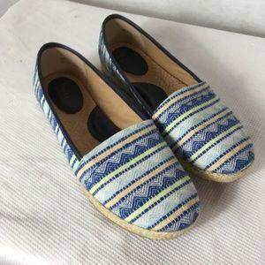 BOC Born Concepts ladies blue fabric slip-on shoes